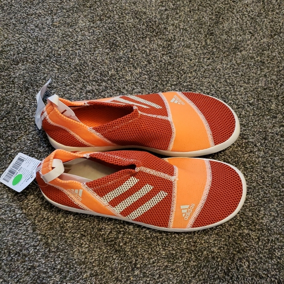adidas Other - Adidas Sz 9 Orange Boat Slip On Sample Shoes